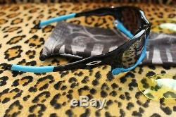 Authentic Oakley Split Jacket-racing Vented Black Polarized+yellow -blue Jawbone