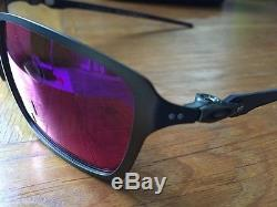 Brand New Oakley Tincan Carbon Red Iridium Polarized Men's Sunglasses OO6017-03