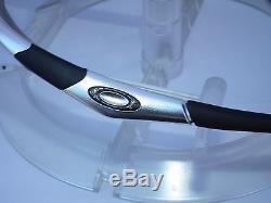 CUSTOM OAKLEY HALF JACKET 1.0 Sunglasses 12-655 Polished Aluminum / Ice Iridium