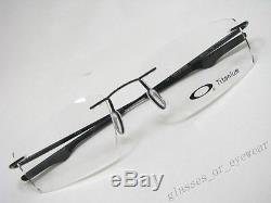 Eyeglass Frames-Oakley keel OX3122-0153 Polished Black Titanium Rimless Glasses