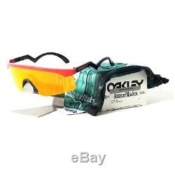 Mens OO 9140-14 RAZOR BLADES Heritage Collection Red Fire Iridium Ltd Sunglasses