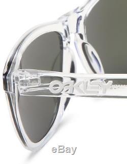 NEW AUTHENTIC Oakley Frogskins sunglasses Pol Clear Violet Iridium purple 24-305