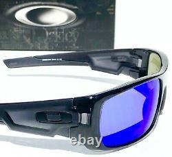 NEW OAKLEY CRANKSHAFT Black Ink POLARIZED Galaxy Blue Sunglass 9239-26