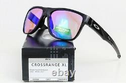 NEW OAKLEY CROSSRANGE XL SUNGLASSES Black frame / Golf Prizm lens OO9360-0458