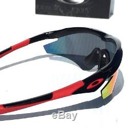 NEW OAKLEY M2 BLACK w Positive Red Iridium Lens Baseball Bike Sunglass