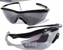 NEW OAKLEY M2 Frame Black W Grey Lens Baseball Bike Tennis Sunglass 9343-01