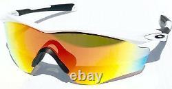 NEW OAKLEY M2 WHITE w FIRE Iridium Lens Golf Baseball Bike XL Sunglass 9343-05