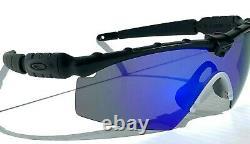 NEW OAKLEY M frame 2.0 Ballistic Black POLARIZED Galaxy Blue len Sunglass 9046