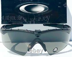 NEW OAKLEY SI M frame 2.0 Ballistic Black POLARIZED Galaxy Blue Sunglass 9213