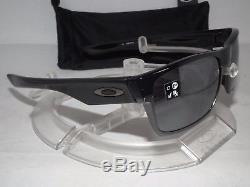 NEW OAKLEY TWO FACE SUNGLASSES OO9189-02 Polished Black / Black Iridium TWOFACE