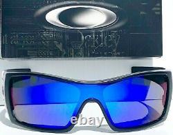 NEW! Oakley BATWOLF Black Ink POLARIZED Galaxy Blue 2 lens Sunglass 910157