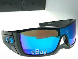 NEW Oakley BATWOLF Black POLARIZED Galaxy Sapphire Blue Sunglass 9101
