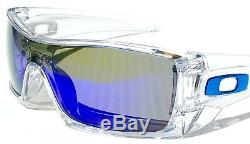 NEW Oakley BATWOLF CLEAR w POLARIZED Galaxy Blue 2 lens set Sunglass 9101