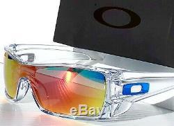 NEW Oakley BATWOLF CLEAR w POLARIZED Galaxy RUBY 2 lens set Sunglass 9101