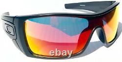 NEW! Oakley BATWOLF Matte Black POLARIZED Galaxy RUBY lens Sunglass 9101