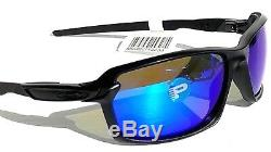 NEW Oakley CARBON SHIFT Matte Black POLARIZED Galaxy Blue Sunglass 9302-01