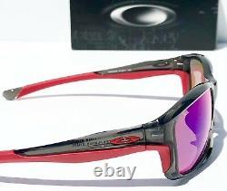 NEW Oakley CHAINLINK Grey Smoke w Ducati Red POLARIZED Lens Sunglass 9247-10