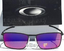 NEW Oakley CONDUCTOR 6 Matte BlacK POLARIZED RUBY Iridium Lens Sunglass 4106-05