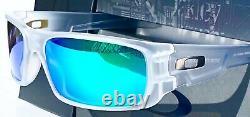 NEW Oakley Crankshaft Clear Matte POLARIZED Galaxy JADE Iridium Sunglass 9239