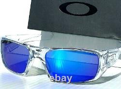 NEW Oakley Crankshaft Clear POLARIZED Galaxy Blue Iridium Sunglass 9239