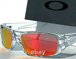 NEW Oakley Crankshaft Clear POLARIZED Galaxy Ruby Red Iridium Sunglass 9239