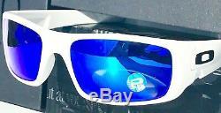 NEW Oakley Crankshaft WHITE POLARIZED Galaxy Blue Iridium Sunglass 9239