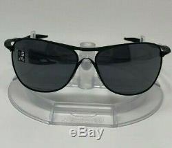 NEW Oakley Crosshair OO4060-03 Matte Black w Black Iridium Lens + Balaclava