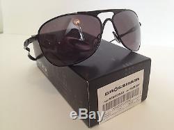 NEW Oakley Crosshair Sunglasses Polished Black with Warm Grey OO4060-05
