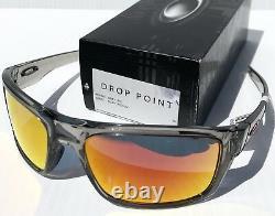 NEW Oakley DROP POINT Grey Ink w POLARIZED Galaxy Ruby 2 lens set Sunglass 9367
