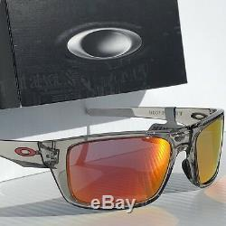 NEW Oakley DROP POINT Grey Ink w Ruby Iridium lens Sunglass 9367-03