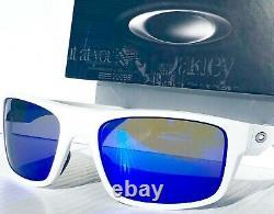 NEW Oakley DROP POINT White POLARIZED Galaxy Blue lens Sunglass 9367