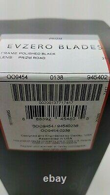NEW Oakley EVZero Blades sunglasses Black Prizm Road 9454-02 AUTHENTIC EV Zero