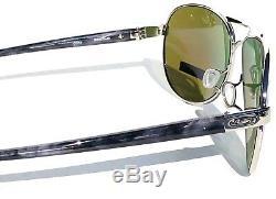 NEW Oakley FEEDBACK Aviator Chrome POLARIZED PRIZM Sapphire Sunglass 4079-33
