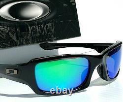 NEW Oakley FIVES Squared BLACK w POLARIZED Galaxy JADE Lens Sunglass 9238