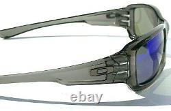 NEW Oakley FIVES Squared Grey Smoke POLARIZED Galaxy Blue Mirror Sunglass 9238