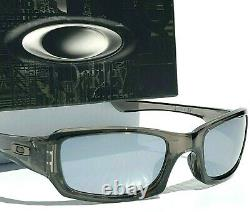 NEW Oakley FIVES Squared Grey Smoke POLARIZED Galaxy Chrome Mirror Sunglass 9238
