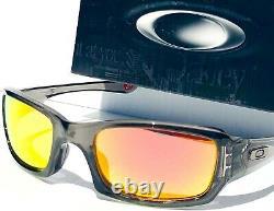 NEW Oakley FIVES Squared Grey Smoke w POLARIZED Galaxy RUBY Lens Sunglass 9238