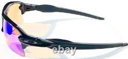 NEW Oakley FLAK 2.0 BLACK polished PRIZM Trail Golf Road Sunglass 9188-06