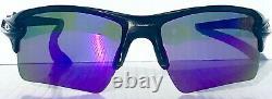 NEW Oakley FLAK 2.0 BLACK w POLARIZED Galaxy VIOLET 2 lens set Sunglass 9188