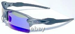 NEW Oakley FLAK 2.0 XL LEAD Steel POLARIZED Galaxy Blue Iridium Sunglass 9188