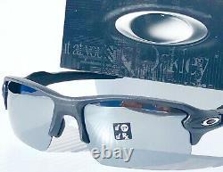 NEW Oakley FLAK 2.0 XL LEAD Steel POLARIZED Galaxy Chrome mirror Sunglass 9188