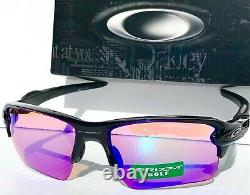 NEW Oakley FLAK JACKET 2.0 BLACK polished PRIZM GOLF Lens Sunglass 9188-05