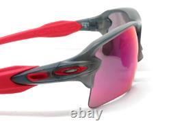NEW Oakley FLAK JACKET 2.0 Grey Smoke w PRIZM ROAD Lens Sunglass 9188-04 Biking