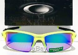 NEW! Oakley FLAK JACKET 2.0 Neon Uranium w PRIZM GOLF Lens Sunglass oo9271-08