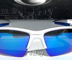 NEW Oakley FLAK JACKET 2.0 WHITE w Blue Sapphire Lens Sunglass 9188-20