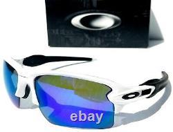 NEW Oakley FLAK JACKET 2.0 WHITE w POLARIZED Galaxy Blue Sunglass 9188