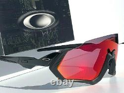 NEW Oakley FLIGHT JACKET Blackout Black w Prizm Road Ruby Sunglasses 9401-01