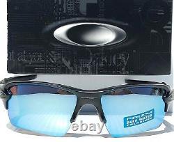 NEW Oakley Flak 2.0 Matte Black POLARIZED Deep Water Angler lens Sunglass 9188