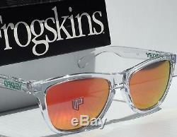 NEW Oakley Frogskins Clear Crystal w POLARIZED Fire Iridium Sunglass oo9245