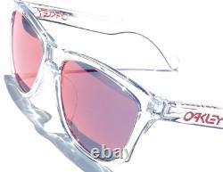 NEW Oakley Frogskins Clear Crystal w TORCH Iridium Sunglass 9013